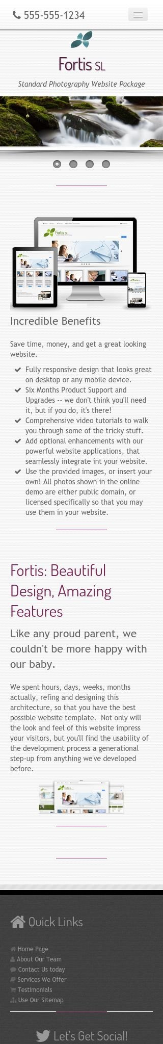 Mobile: Photography Web Template