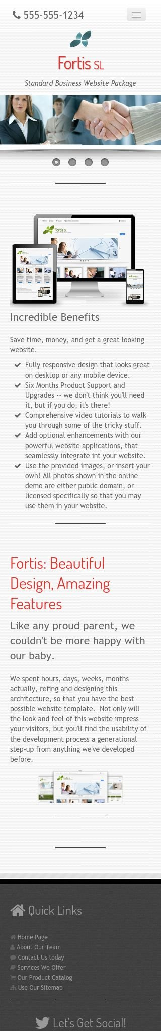 Mobile: Business Web Template
