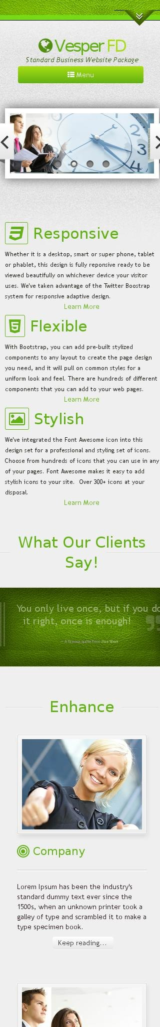 Mobile: Business Wordpress Theme