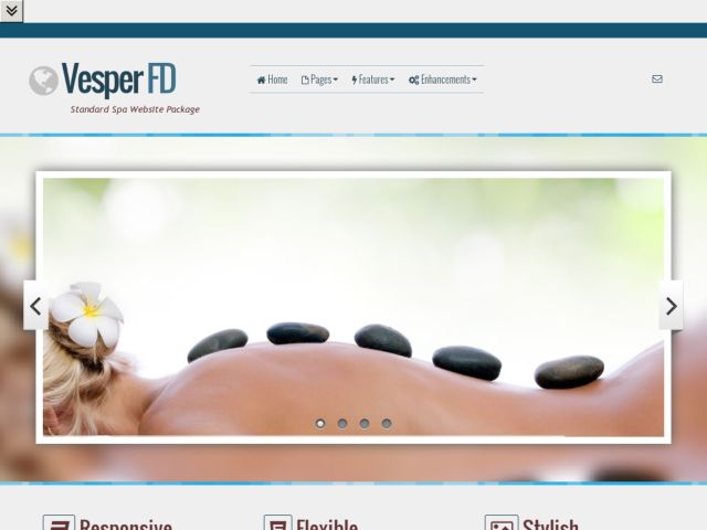 Mobile: Spa Web Template