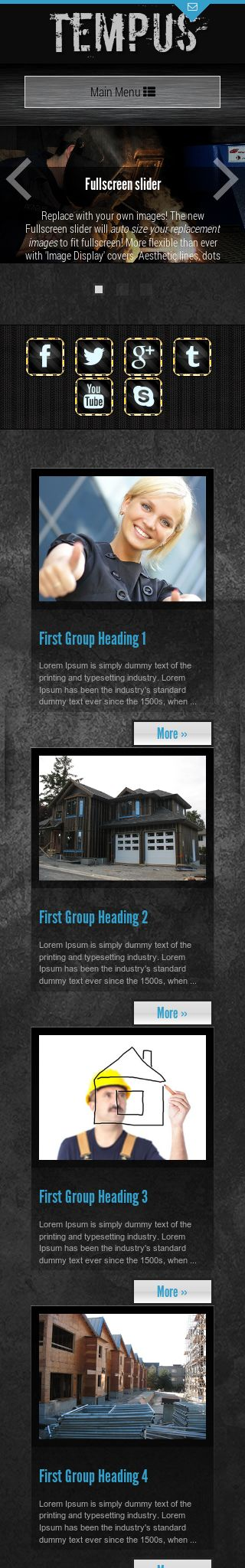 Mobile: Construction Wordpress Theme