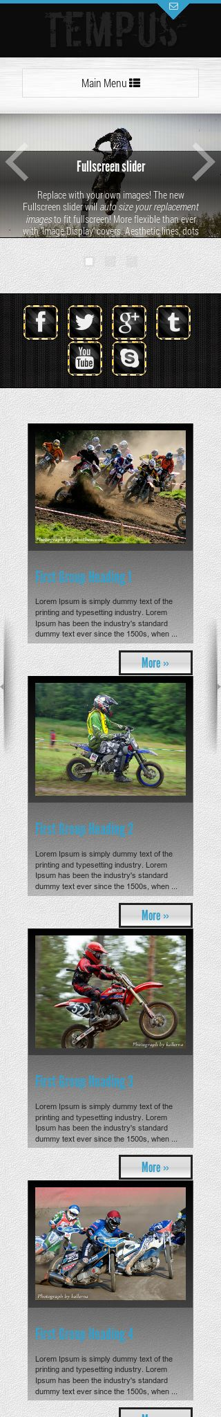 Mobile: Motocross Wordpress Theme