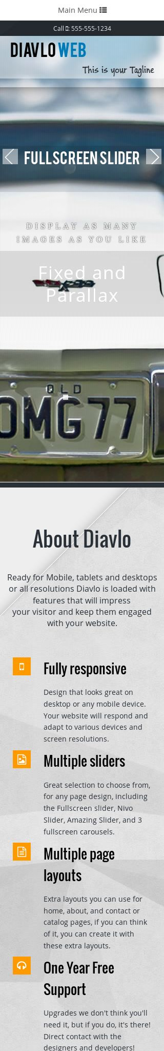 Mobile: Automobile Dreamweaver Template