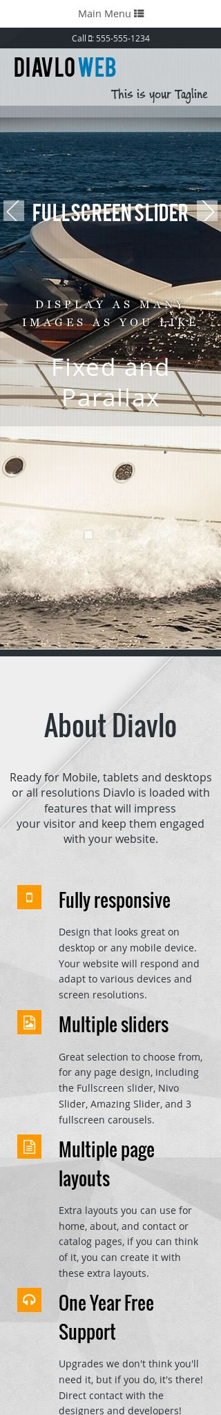 Mobile: Boating Dreamweaver Template
