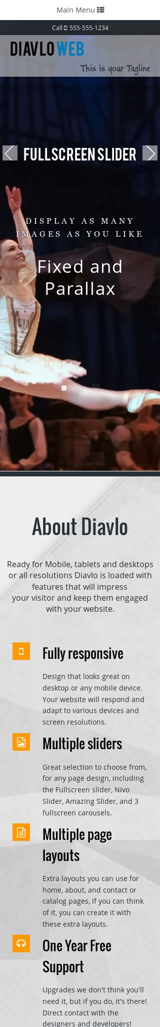Mobile: Dance Web Template
