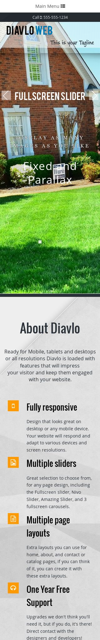 Mobile: Landscaping Dreamweaver Template
