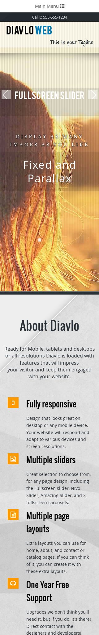 Mobile: Multi-purpose Wordpress Theme