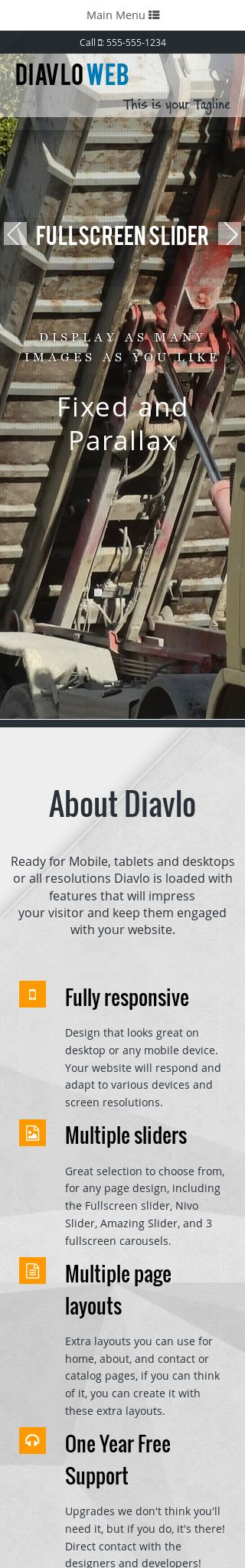 Mobile: Trucking Web Template