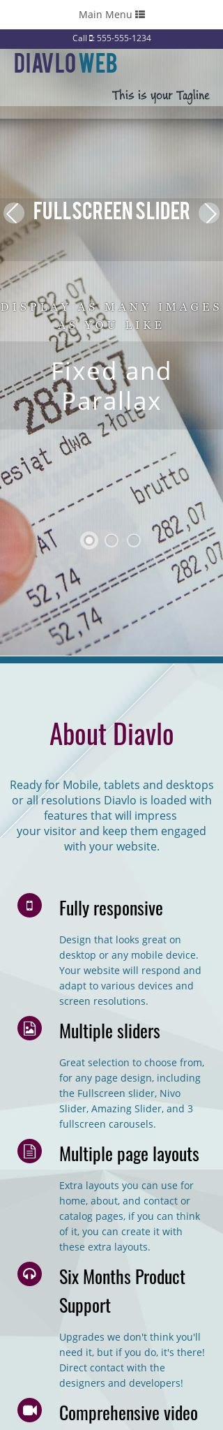Mobile: Accounting Dreamweaver Template