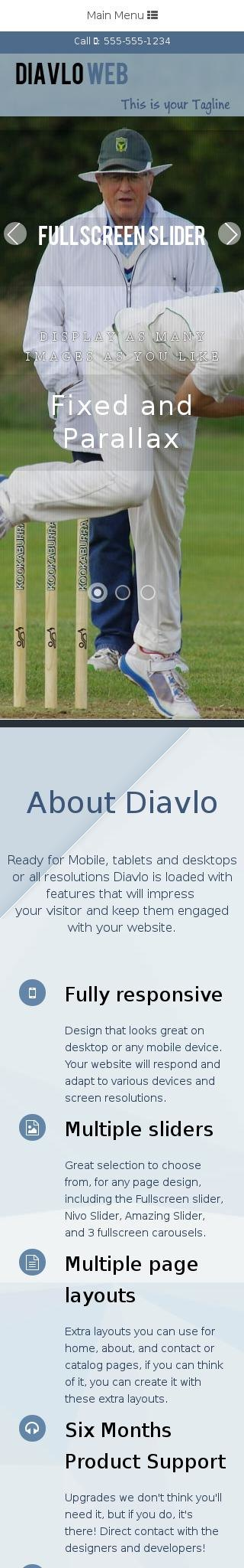 Mobile: Cricket Web Template