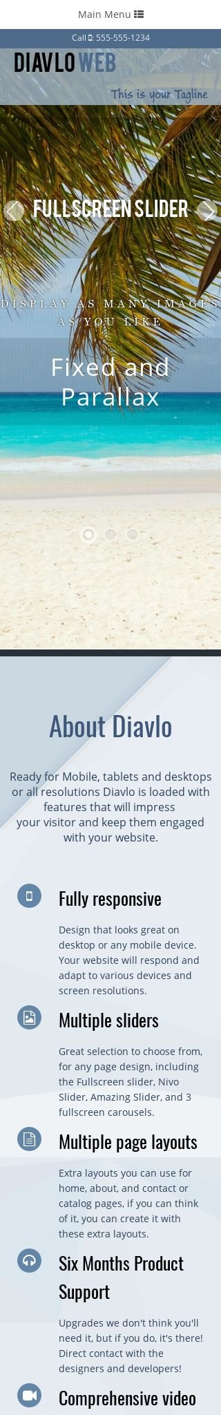 Mobile: Travel Dreamweaver Template