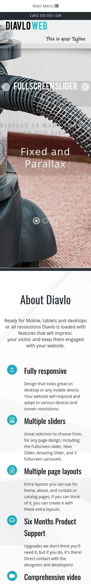 Mobile: Janitorial Web Template