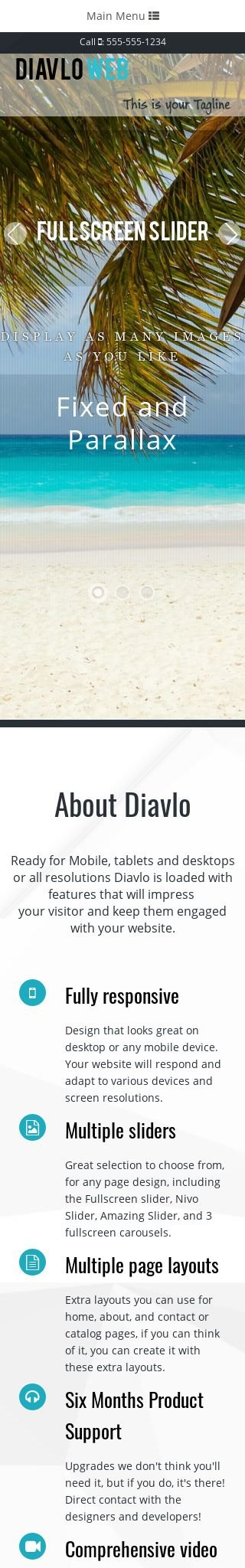 Mobile: Travel Web Template