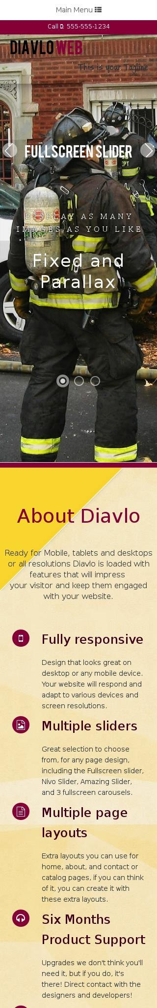 Mobile: Firefight Web Template