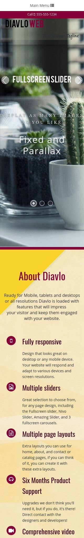 Mobile: Interior-design Dreamweaver Template