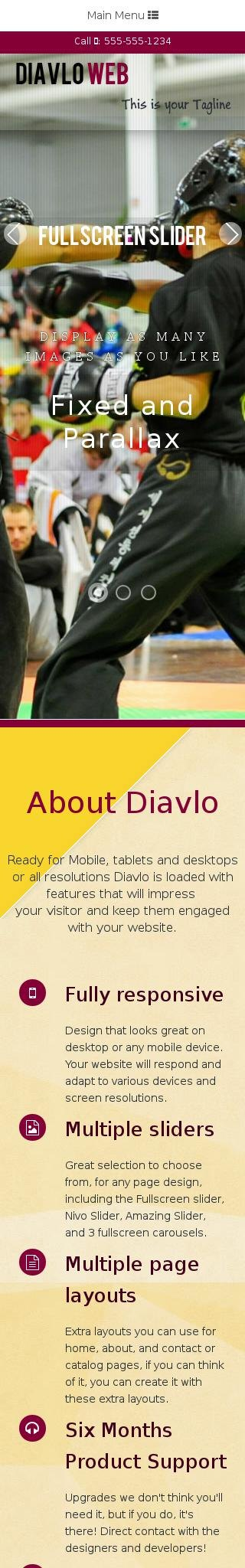 Mobile: Martial-arts Dreamweaver Template