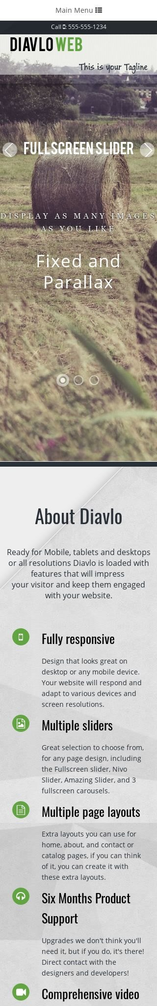 Mobile: Agriculture Dreamweaver Template