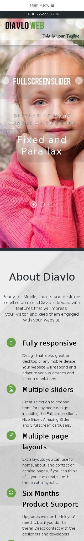 Mobile: Christmas Dreamweaver Template