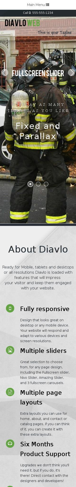 Mobile: Firefight Dreamweaver Template
