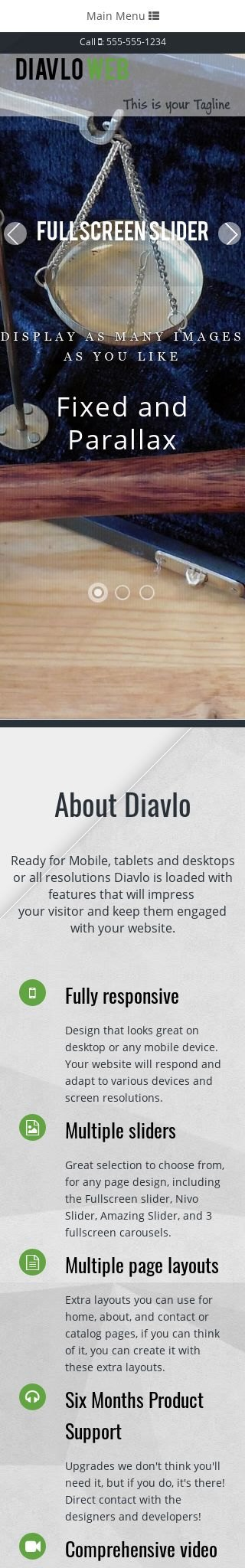 Mobile: Law Web Template