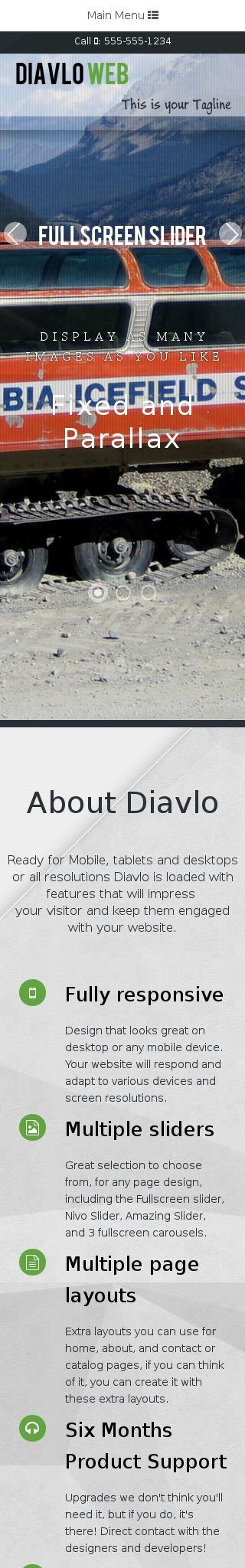 Mobile: Snowmobile Dreamweaver Template