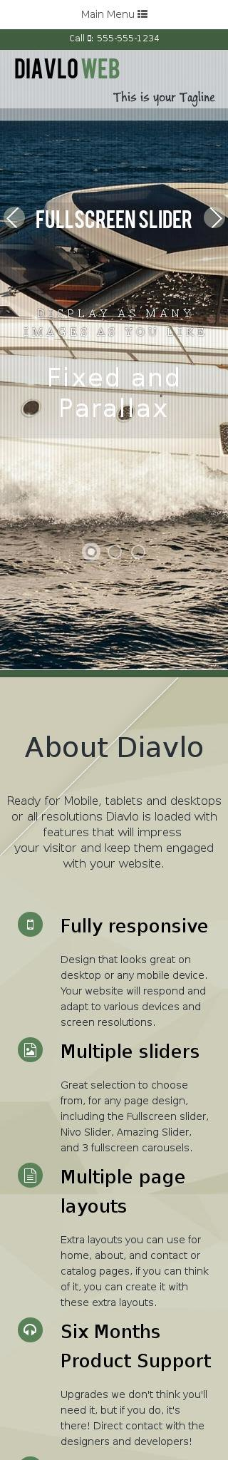 Mobile: Boating Web Template