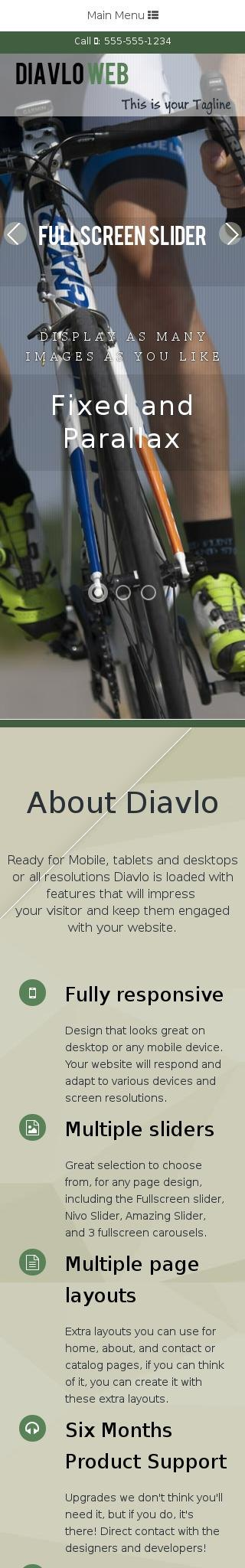 Mobile: Cycling Dreamweaver Template