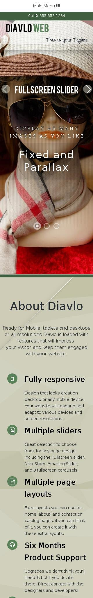 Mobile: Fashion Dreamweaver Template