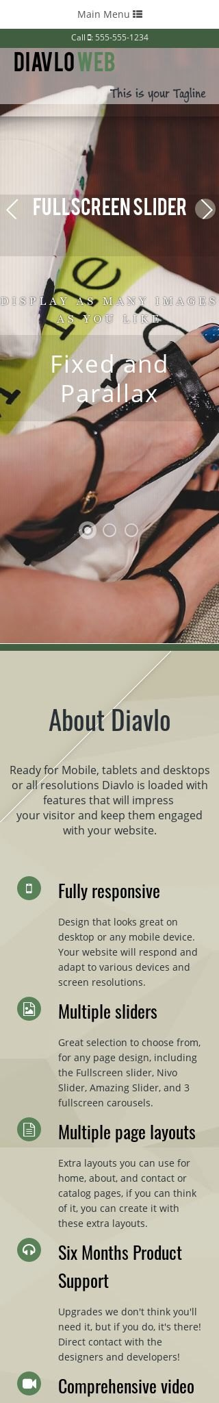 Mobile: Flooring Web Template