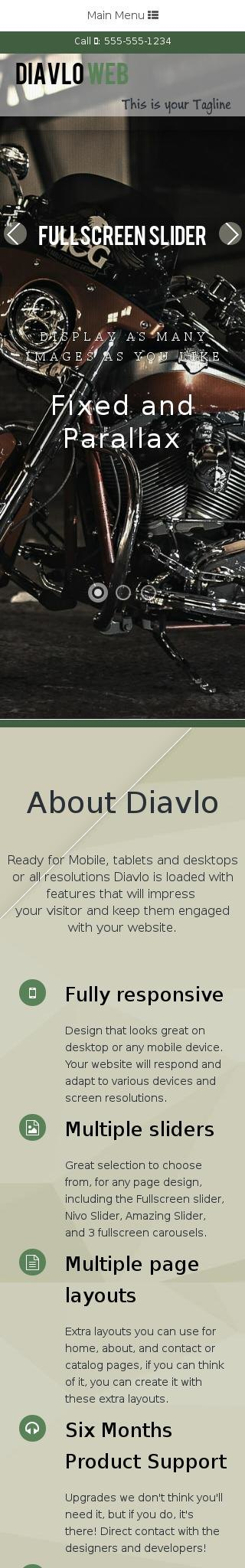 Mobile: Motorcycle Web Template