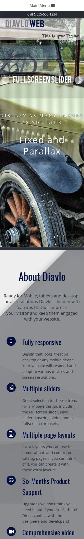 Mobile: Antiques Web Template