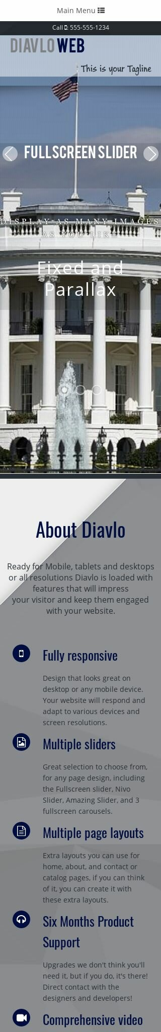 Mobile: Patriotic Dreamweaver Template