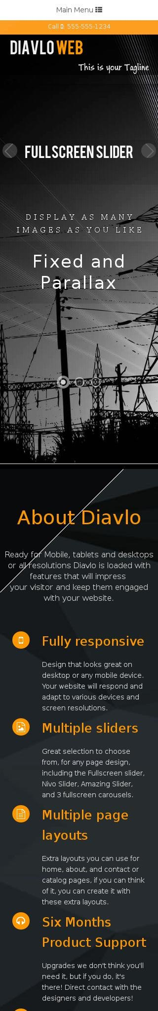 Mobile: Electrical Web Template