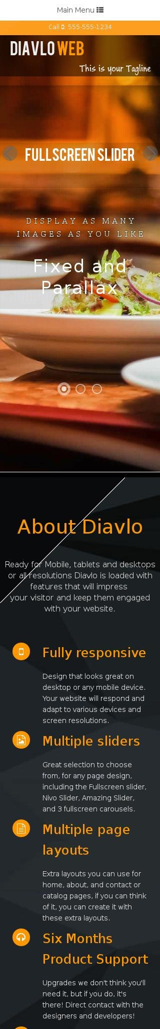 Mobile: Restaurant Dreamweaver Template