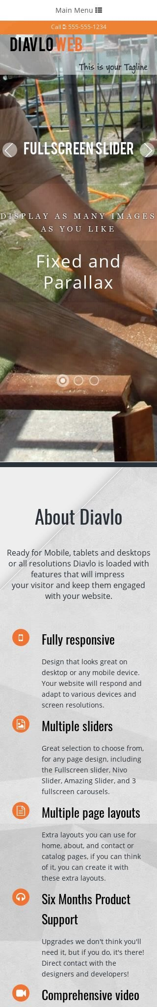 Mobile: Finish-carpentry Web Template