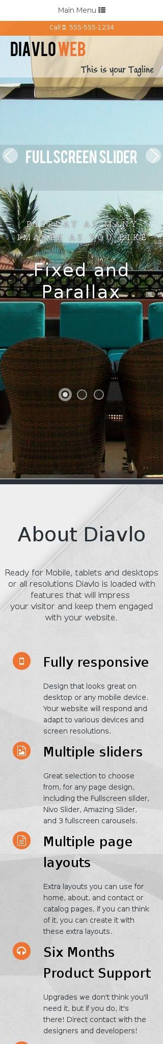 Mobile: Hotel Web Template