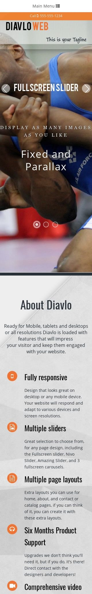 Mobile: Wrestling Web Template