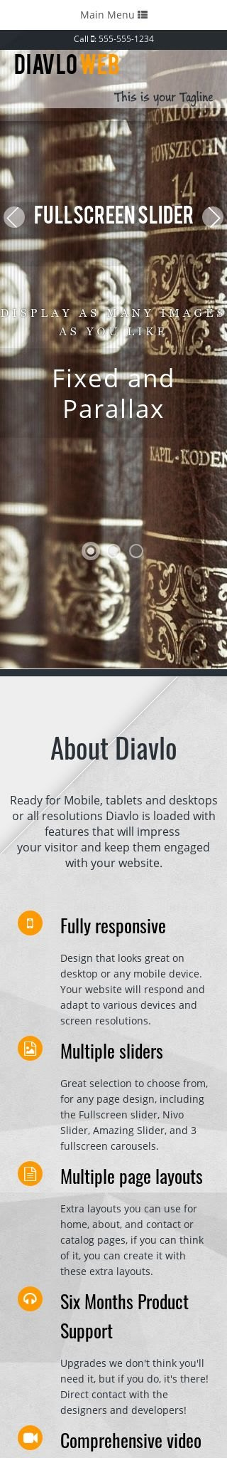 Mobile: Education Web Template