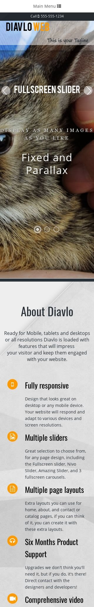 Mobile: Pet-store Dreamweaver Template