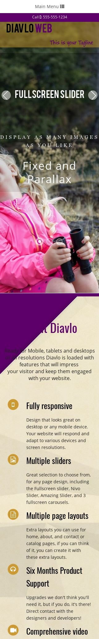 Mobile: Family Web Template