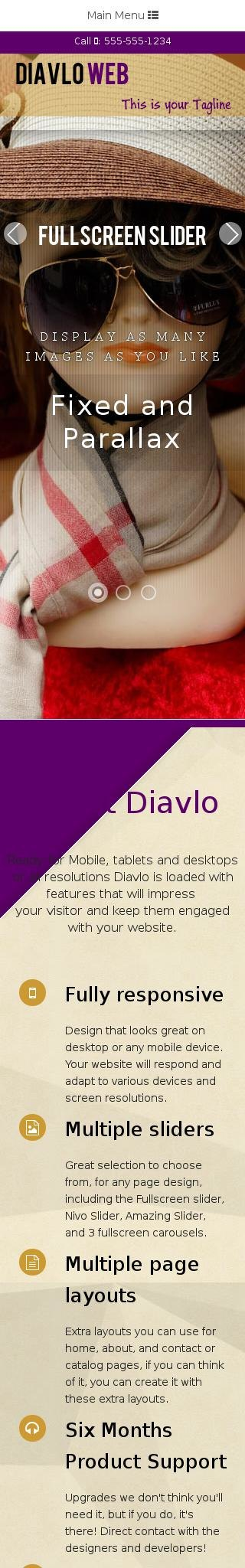 Mobile: Fashion Web Template