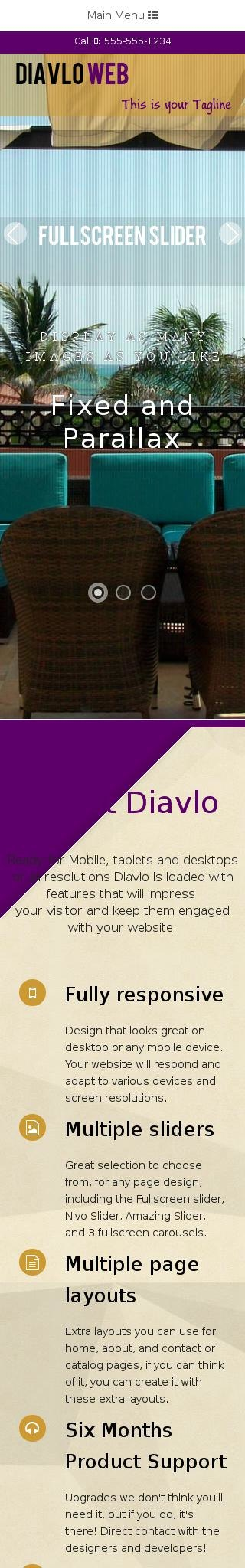 Mobile: Hotel Dreamweaver Template