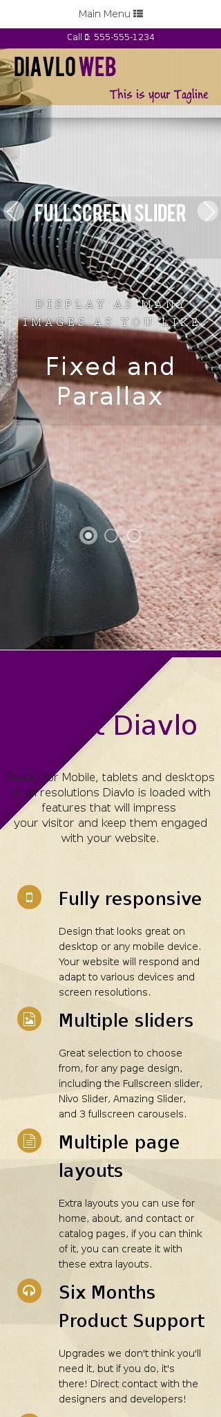 Mobile: Janitorial Dreamweaver Template