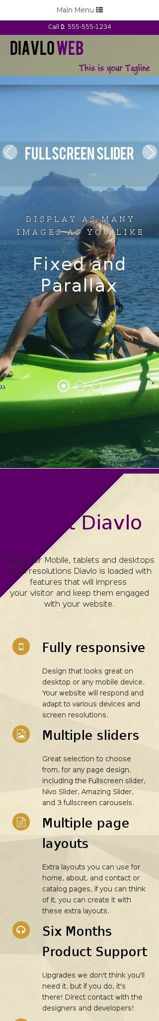 Mobile: Kayak Web Template