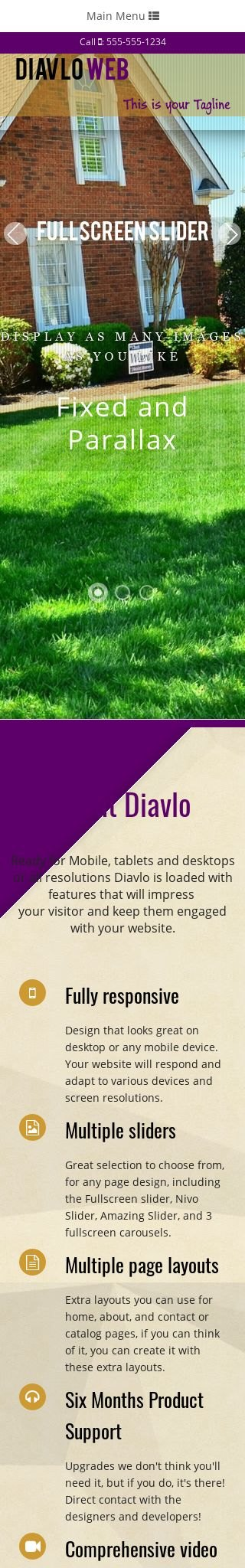 Mobile: Landscaping Web Template