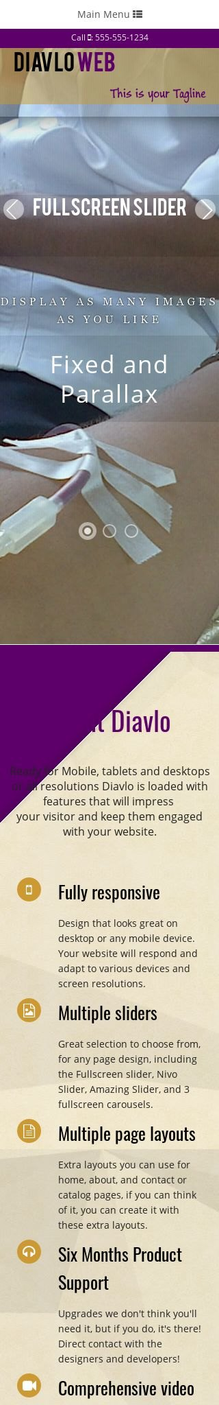 Mobile: Volunteer Dreamweaver Template