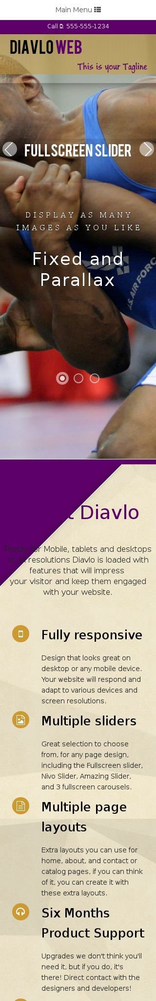 Mobile: Wrestling Dreamweaver Template