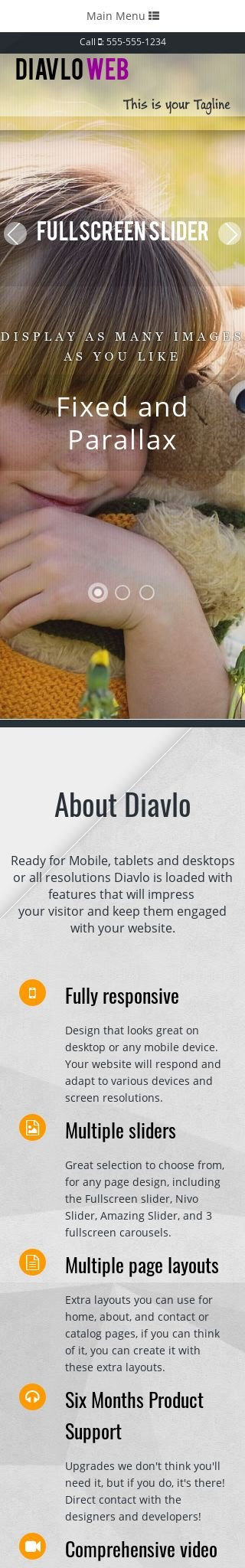 Mobile: Child-care Dreamweaver Template