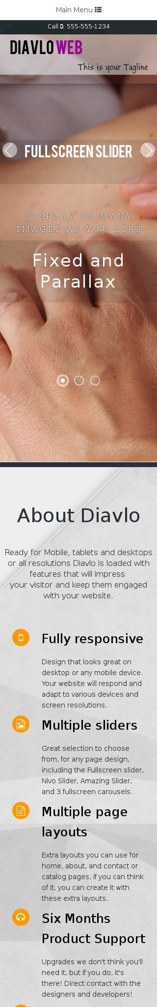 Mobile: Chiropractic Web Template