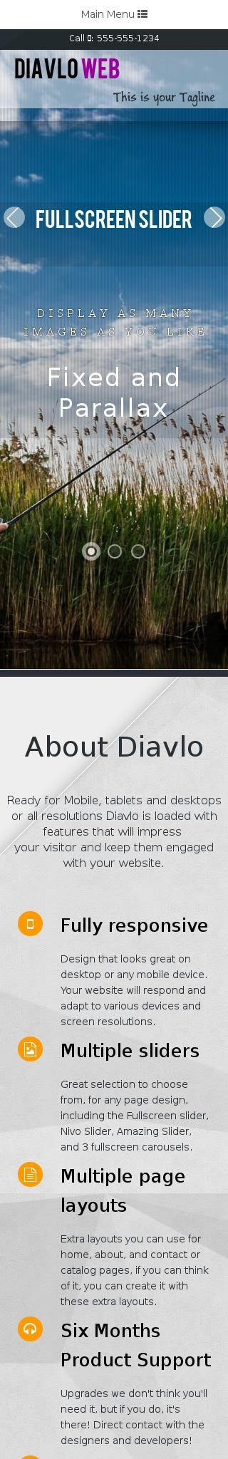 Mobile: Fishing Web Template